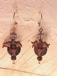 Copper Leaf — Earrings