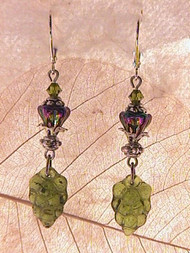 Cluster Luster — Green Grape Earrings
