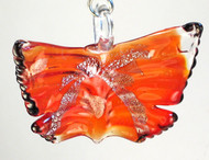 Large Red Glass Butterfly Ceiling Fan Pull