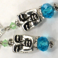 Karma Cool Silvery Serene Face Earrings