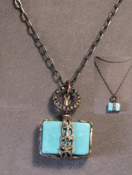 That's A Wrap Turquoise Filigree Necklace
