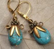 Turquoise Garden Earrings