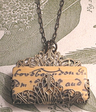 Old English Script Necklace