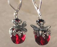 Killer Red Bee Earrings