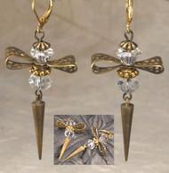 Beautiful Bow Crystal Crystal Earrings