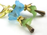 Spring Beauty Heirloom Flower Earrings