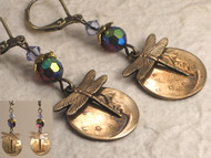 Over The Moon Dragonfly Earrings