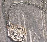 Brushed Brass Domed Filigree Necklace