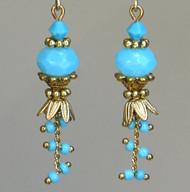 Antiqued Pompeii Turquoise Blue Sky Earrings