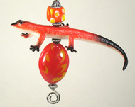 Orange Salamander Lizard Ceiling Fan Pull Chain