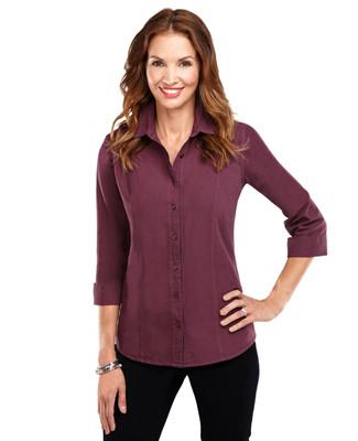 Garment Dyed 3/4 Sleeve Shirt