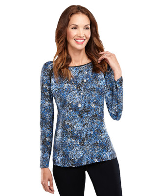 Speckled Long Sleeve Shell