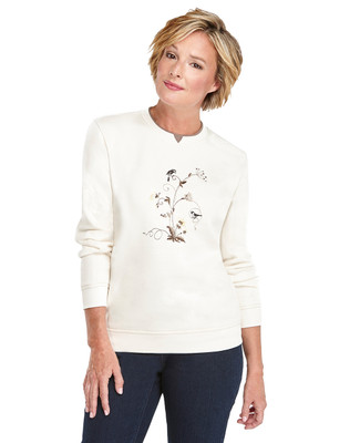 Crewneck Sweater Chickadee