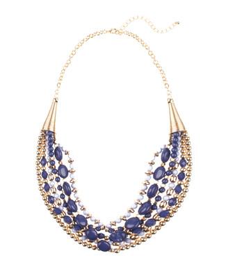 5 Row Multi Bead Necklace