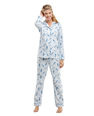 Blue Jay Flannel Pyjama Set