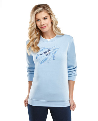 Blue Jay on a Branch Sweatshirt