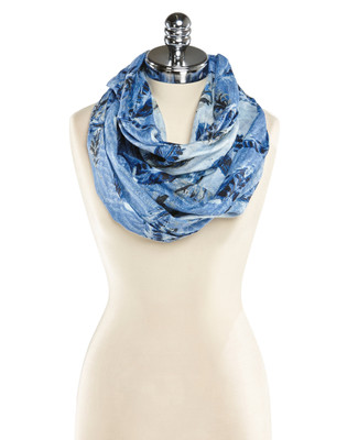 Blue Feather Scarf