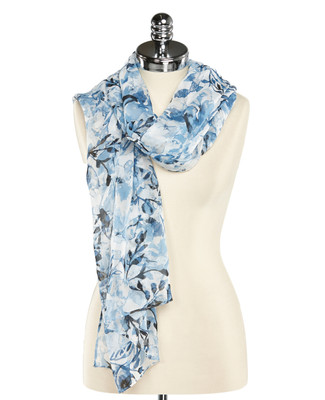 Blurred Floral Long Scarf