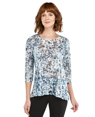 Blurred Floral Tunic Top