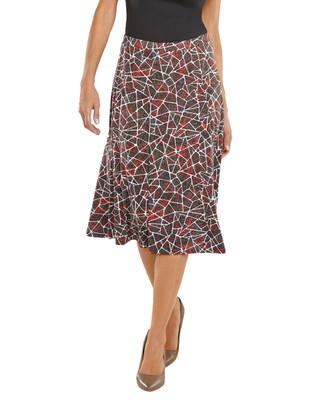 Confetti Print Flare Skirt