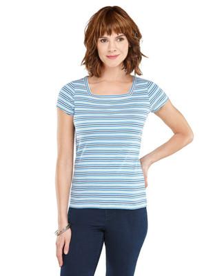 Stripe Squareneck T-shirt