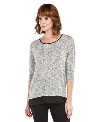 Melange knit Top
