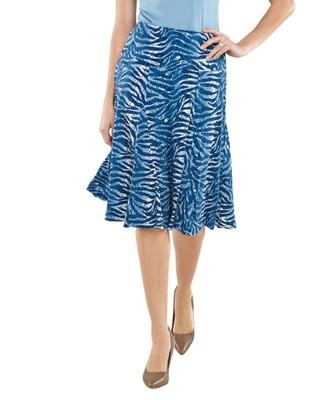 Animal Print Flare Skirt