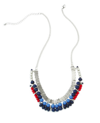 Flat Chain with Beads Necklace