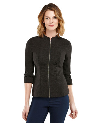 Abstract Zip Front Jacket