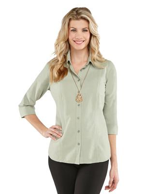 3 Quarter Sleeve Garment Dye Shirt