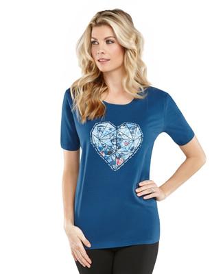 Spring Forward Heart Graphic Jersey Crewneck