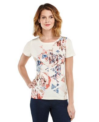 Boatneck Prism Graphic T-shirt