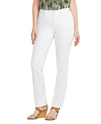 White Town Embroidered Jean