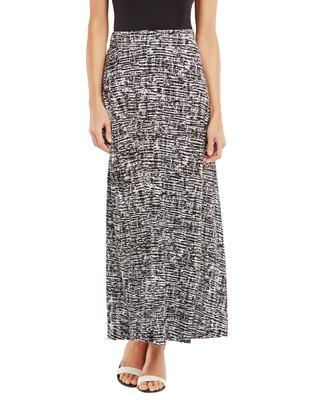Nina K - Texture Print Maxi Skirt