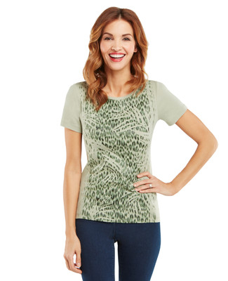 Animal Texture V-Neck Graphic