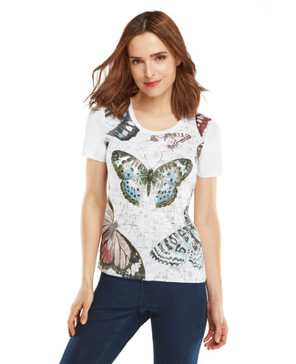 Big Butterfly Scoopneck Tee