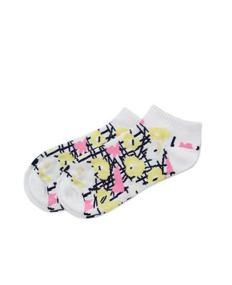 Floral Stripe Ped Sock