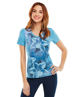 Orchid Texture Graphic Scoopneck Tee