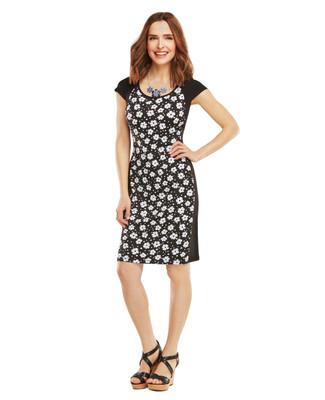 Nina K - Floral Panel Dress