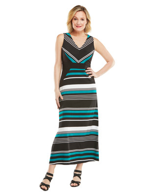 Nina K - Stripe Maxi Dress