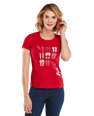 Petite Canada Flip Flop T-shirt