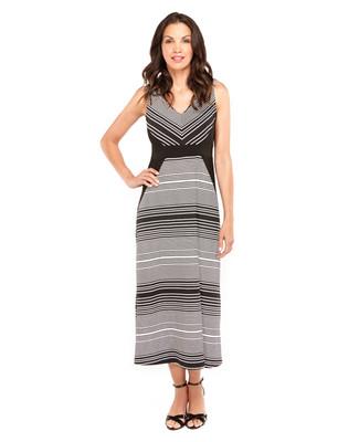 Diagonal Stripe Maxi Dress