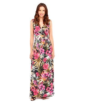 Tropical Flower Maxi Dress