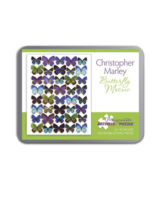 Butterly Mosaic Tin Puzzle