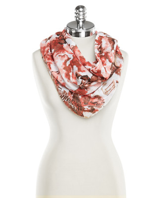 NEW - Rust Patterned Infinity Scarf