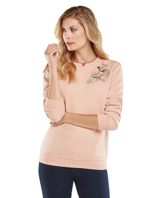 NEW - Bird Corsage Graphic Sweatshirt