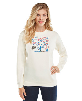 NEW - Folkloric Cross-stitch Graphic Sweatshirt
