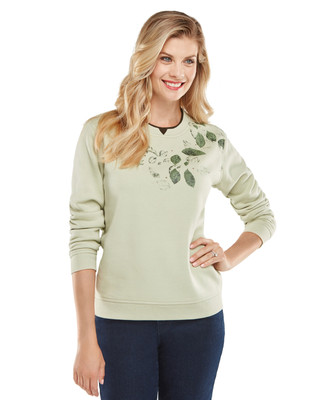 NEW - Petite Bird Corsage Graphic Sweatshirt
