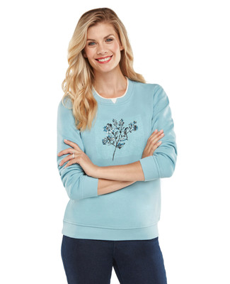 NEW - Petite Floral Patch Graphic Sweatshirt