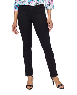 Women's black denim jegging